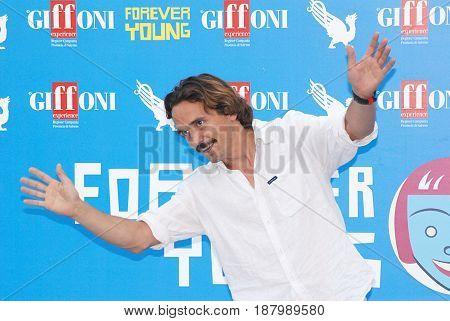 Giffoni Valle Piana Sa Italy - July 20 2013 : Piergiorgio Bellocchio at Giffoni Film Festival 2013 - on July 20 2013 in Giffoni Valle Piana Italy