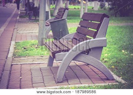 City Park And Bench
