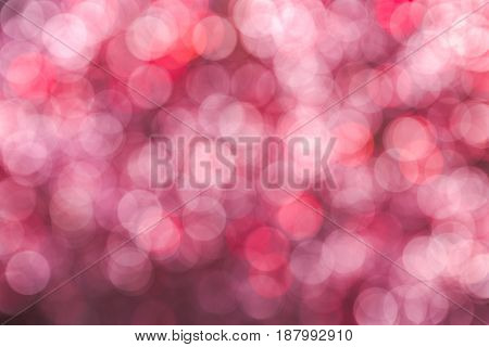 Pink abstract bokeh as beautiful blurred background