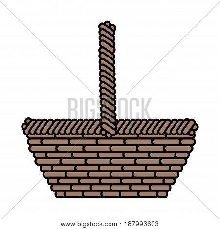 easter basket icon over white background. vector illustration