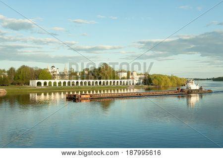 Veliky Novgorod, Russia - 23 May:view Of Yaroslavovo Dvorishche , Russia -23 May 2017.