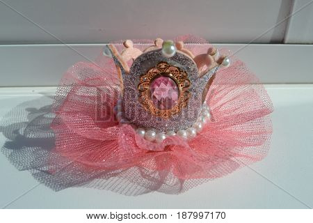 crown for girls pink holiday costume accessory barrette