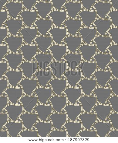 Seamless golden ornament. Modern background. Geometric pattern with repeating elements