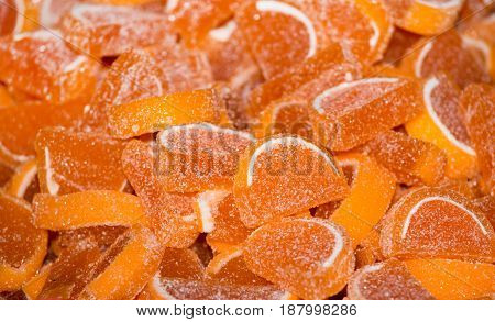 Orange Jelly Beans On Pile