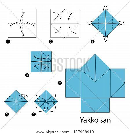 Step by step instructions how to make origami  Mafia Japan.