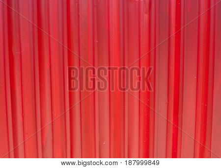 Red rusty corrugated metal wall ,rusty Zinc grunge style background
