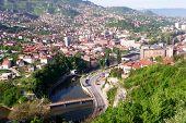 Sarajevo, the capital city of Bosnia and  Herzegovina, landscape view poster