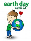 vector illustration of earth day graphic concept poster