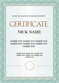 Vector pattern that is used in certificate and diplomas