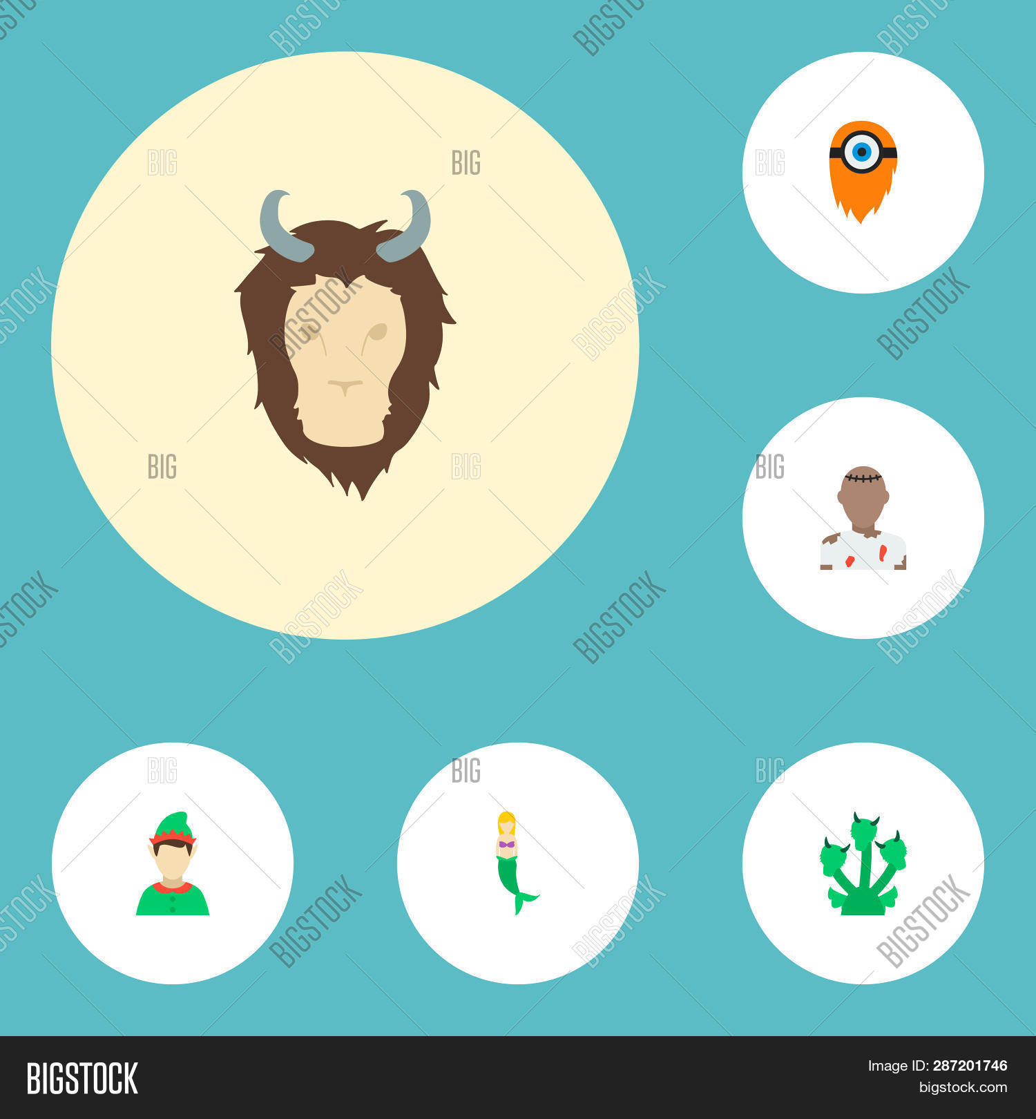 Set Character Icons Image & Photo (Free Trial) | Bigstock