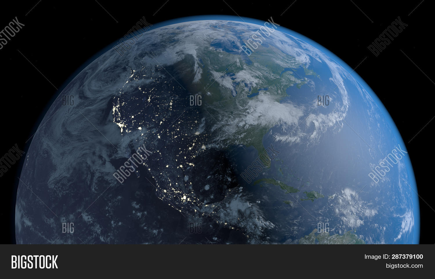 Planet Earth Space 3d Image Photo Free Trial Bigstock