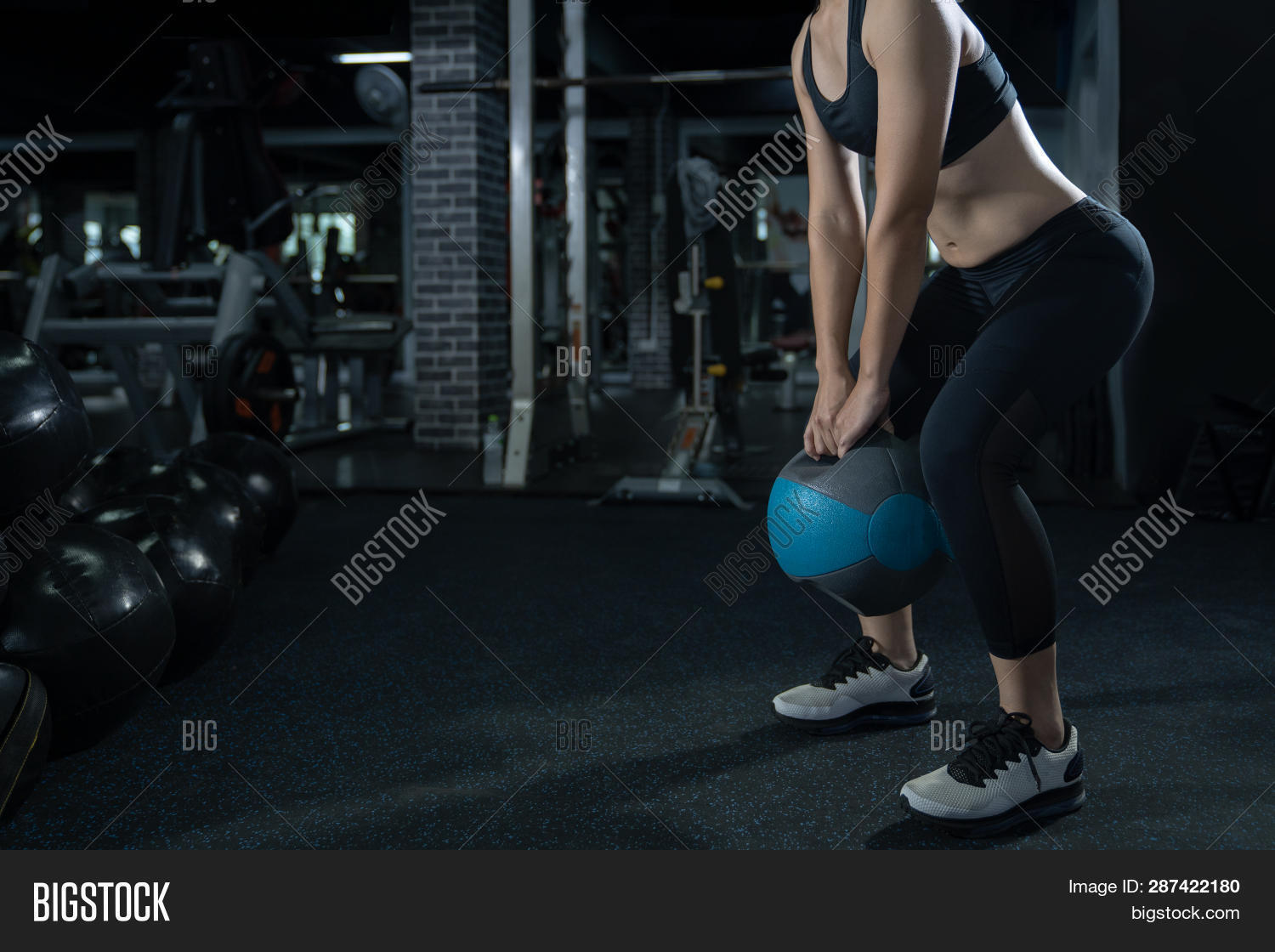 Woman Exercise Workout Image & Photo (Free Trial) | Bigstock
