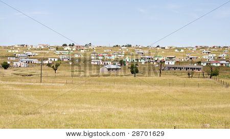 Transkei shacks in South Africa