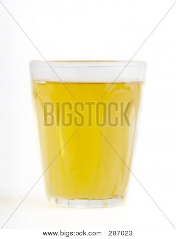 a glass of fresh apple juice isolated on white. poster