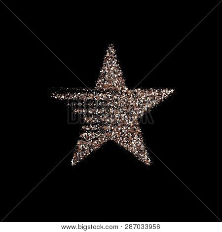 Silver Star Vector Banner. Silver Glitter . Template , Card, Vip, Exclusive, Certificate, Gift Luxur