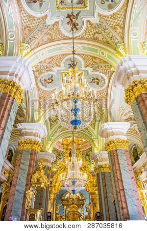 Saint Petersburg, Russia - April 27: Interior, Peter And Paul Cathedral, 18th-century Romanov Dynast