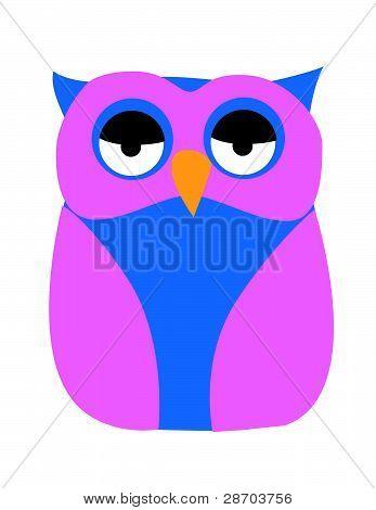 Old Owl Illustration