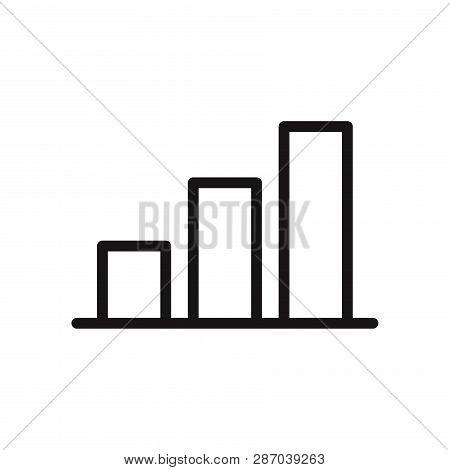Graphic Bar Chart Icon Isolated On White Background. Graphic Bar Chart Icon In Trendy Design Style.