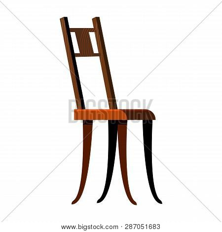 Classic Wooden Chair Flat Icon. Chairs Concept. Resting, Relaxation, Seat. Chairs Concept. Vector Il
