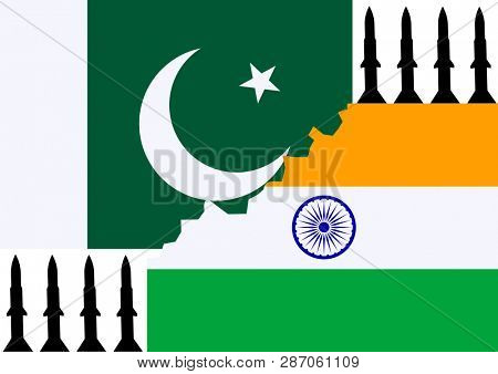 Background of national flag of Pakistan and india