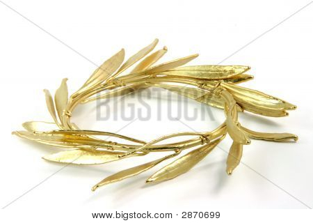 Closeup Gold Wreath