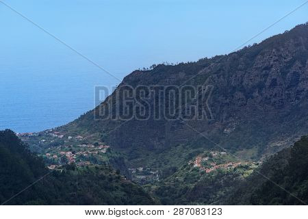 View At Mountain Peak On Coast Of Faial County On Portuguese Island Of Madeira