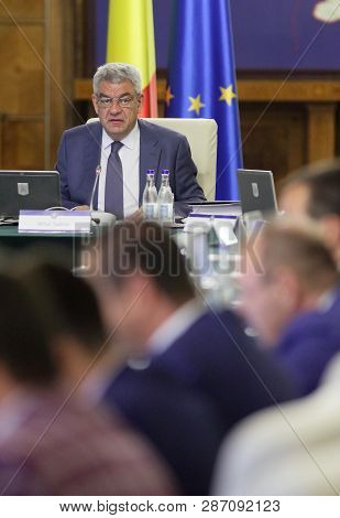 Bucharest, Romania - July 27, 2017: Mihai Tudose, Prime Minister Of Romania, Heads The Government Me