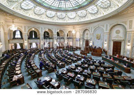 Romanian Parliament - Senate Meeting