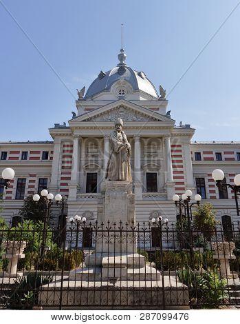 Bucharest, Romania - September 10, 2018: The Spatharios Mihai Cantacuzino Statue, First Statue Built