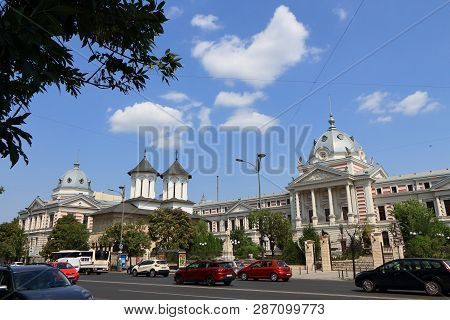 Bucharest, Romania - August 23, 2018: View Of Coltea Orthodox Church, Inaugurated On October 18, 170
