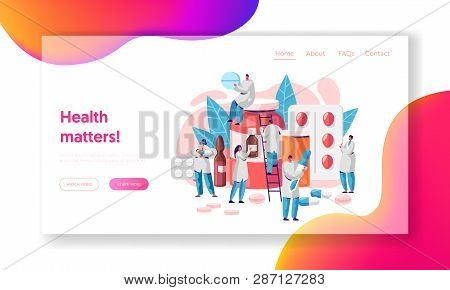 Pharmacist Medicine Drug Store Landing Page. Pharmacist Care For Patient. Medicine Industry. Online