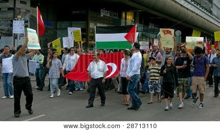 Demonstration against Israel's attack