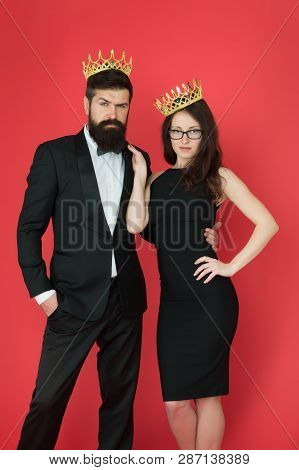 Visiting Event Or Ceremony. Couple Ready For Award Ceremony. Main Rules Picking Clothes. Corporate P