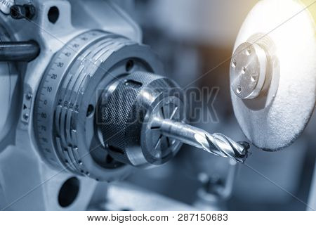 The Operation Of Tool Making Machine Control By Computer Program. The Cnc Carbide Cutting Tool Manuf
