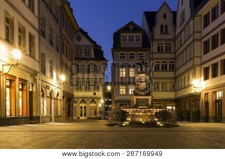 Frankfurt Am Main, Germany - November 13 2018: Beautiful Architecture Of Old Town In Frankfurt Am Ma