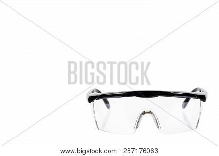 Protective workwear to protect human eyes, safety glasses poster