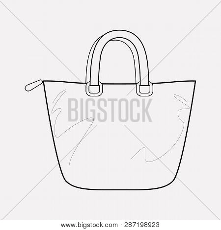Trapeze Bag Icon Line Element. Vector Illustration Of Trapeze Bag Icon Line Isolated On Clean Backgr