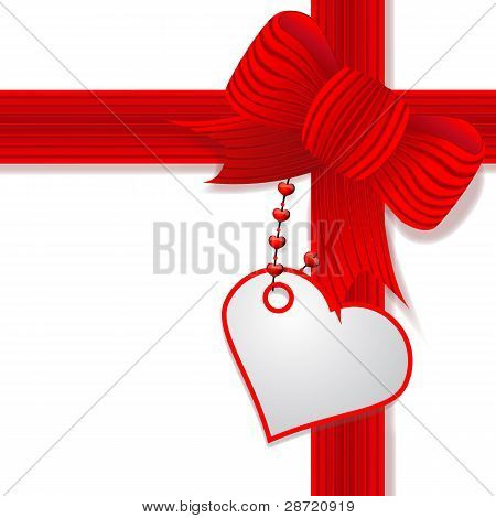 Valentine's day present with red bow