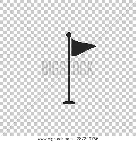 Golf Flag Icon Isolated On Transparent Background. Golf Equipment Or Accessory. Flat Design. Vector