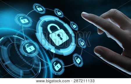 Cyber Security Data Protection Business Technology Privacy Concept.