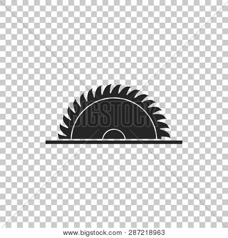 Circular Saw Blade Icon Isolated On Transparent Background. Saw Wheel. Flat Design. Vector Illustrat