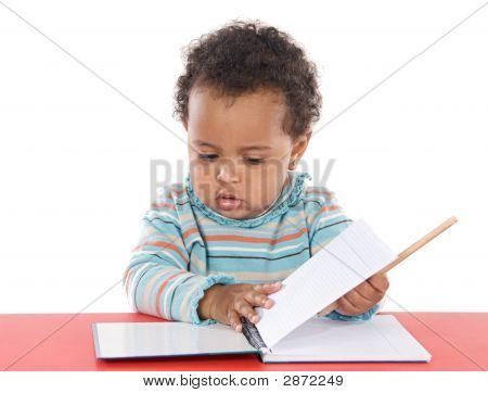 Schattige Baby studeren