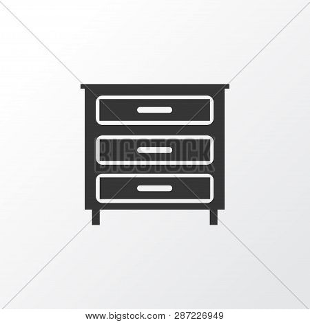 Dresser icon symbol. Premium quality isolated sideboard element in trendy style. poster
