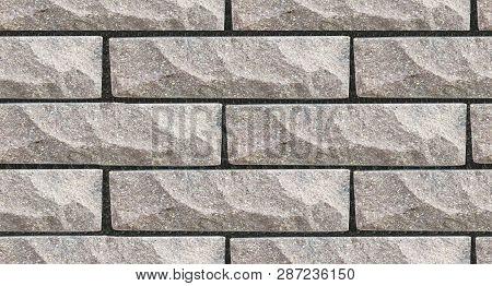 Stone Wall Pattern, Seamless Brick Texture. Wall Made Of Natural Stone Bricks. 3d Seamless Wall Text