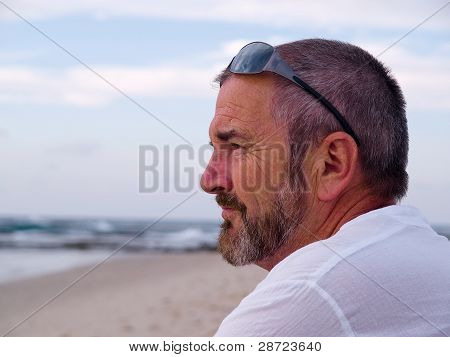 Portrait Of A Thinking Senior Man