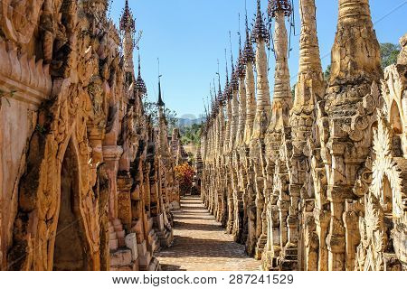 Kakku Tempel Stupa - Shan-state Province, Myanmar