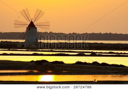 Windmill At Marsala