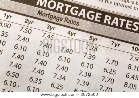 Newspaper Mortgage Rate