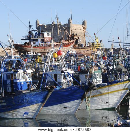 Busy Harbour Of Boats