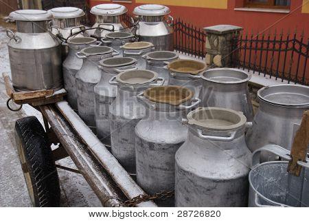 milk containers, Romania